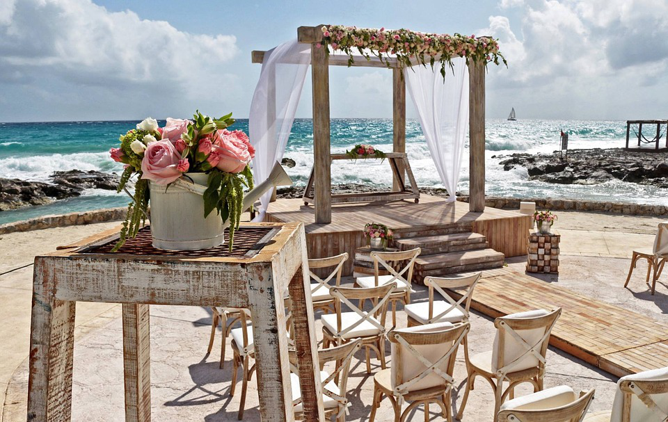 Wedding theme at sea beach